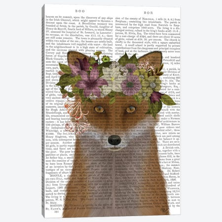 Fox Bohemian Book Print Canvas Print #FNK1702} by Fab Funky Canvas Wall Art