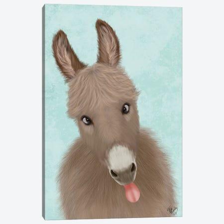 Funny Farm Donkey 2 Canvas Print #FNK1710} by Fab Funky Canvas Art Print
