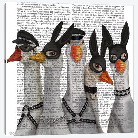 Geese Guys Book Print Canvas Print #FNK1718} by Fab Funky Canvas Print