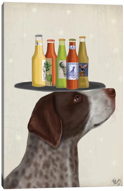 German Shorthaired Pointer Ice Cream Beer Lover Canvas Art Print