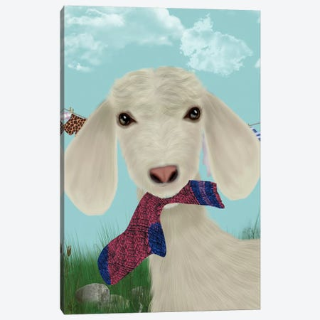Goat Sock Lunch Canvas Print #FNK1739} by Fab Funky Canvas Print