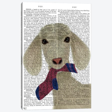 Goat Sock Lunch Book Print Canvas Print #FNK1740} by Fab Funky Canvas Artwork