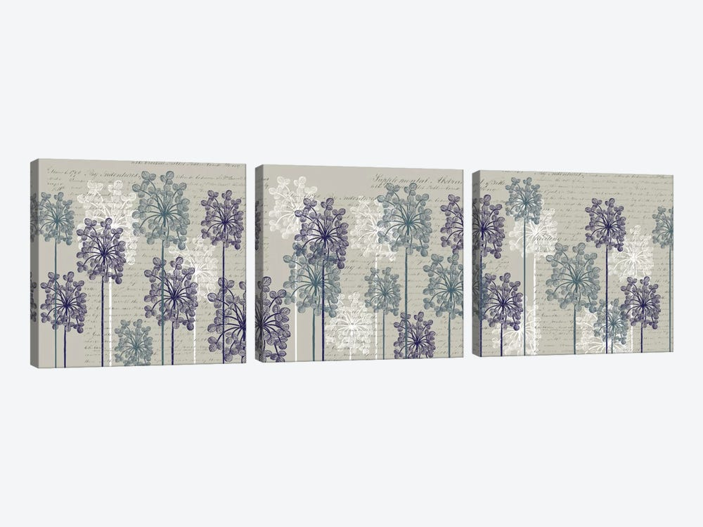 Bubble Trees I by Fab Funky 3-piece Canvas Artwork