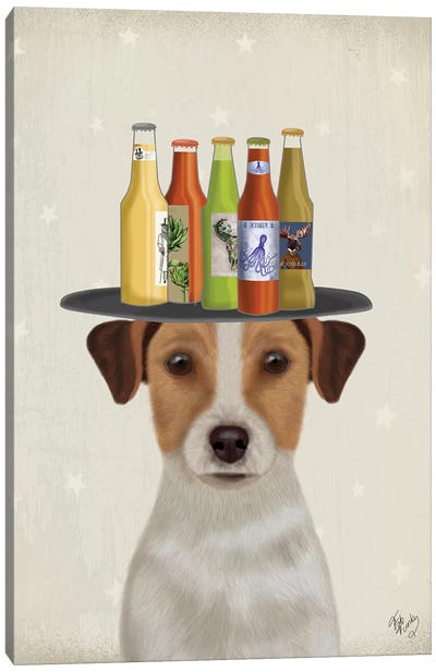Jack Russell Beer Lover Canvas Art Print