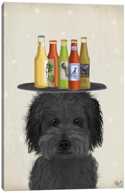 Labradoodle Black I Beer Lover Canvas Art Print