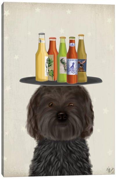 Labradoodle Black Beer Lover Canvas Art Print