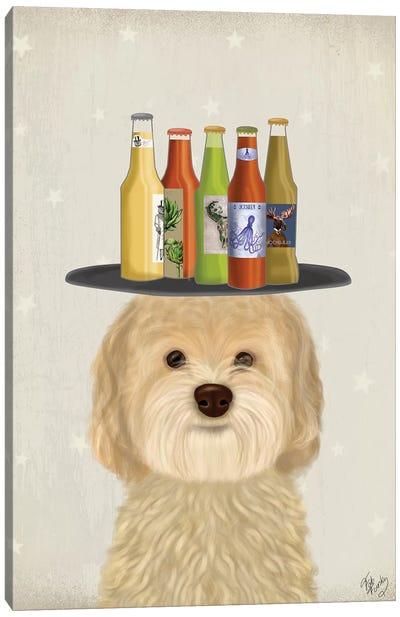 Labradoodle Blonde Beer Lover Canvas Art Print