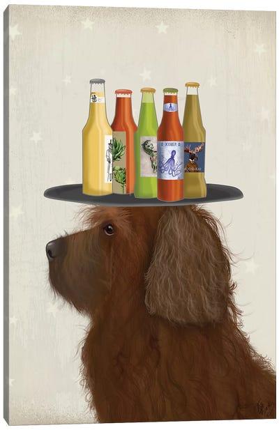 Labradoodle Brown II Beer Lover Canvas Art Print