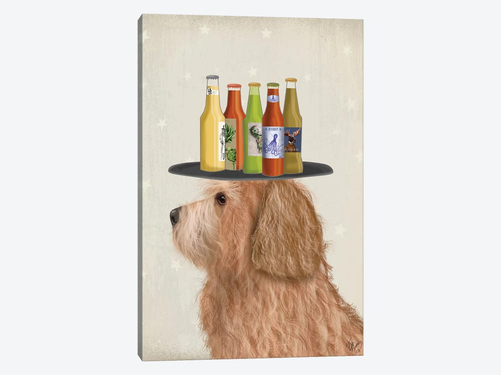 Labradoodle Gold II Beer Lover by Fab Funky 1-piece Canvas Wall Art