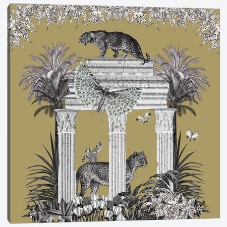 Livoris Feritas Leopard Design, Square Canvas Print #FNK1794} by Fab Funky Canvas Art