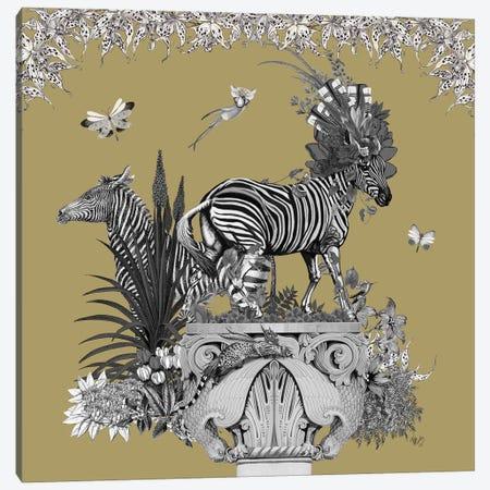 Livoris Feritas Zebra Design, Square Canvas Print #FNK1798} by Fab Funky Canvas Art Print