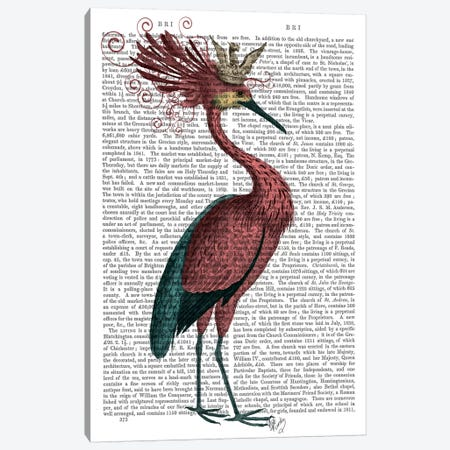 Crowed Marsala Heron Canvas Print #FNK17} by Fab Funky Canvas Print