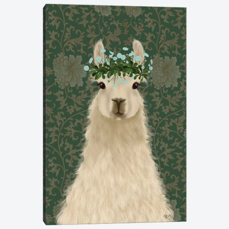 Llama Bohemian 1 Canvas Print #FNK1803} by Fab Funky Canvas Print