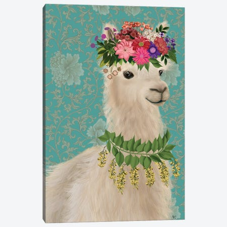 Llama Bohemian 2 Canvas Print #FNK1805} by Fab Funky Canvas Wall Art