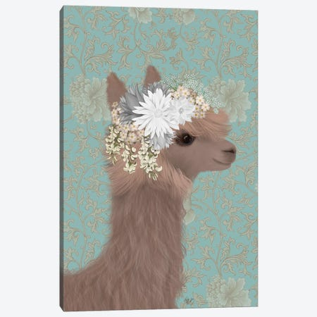 Llama Bohemian 3 Canvas Print #FNK1807} by Fab Funky Canvas Artwork
