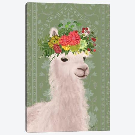 Llama Bohemian 4 Canvas Print #FNK1808} by Fab Funky Art Print