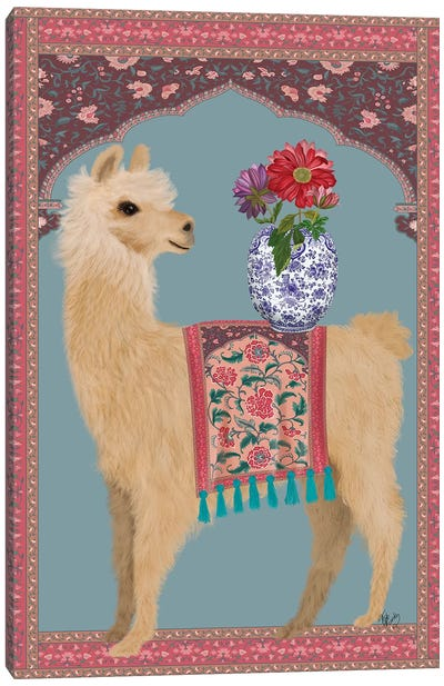 Llama Chinoiserie 3 Canvas Art Print