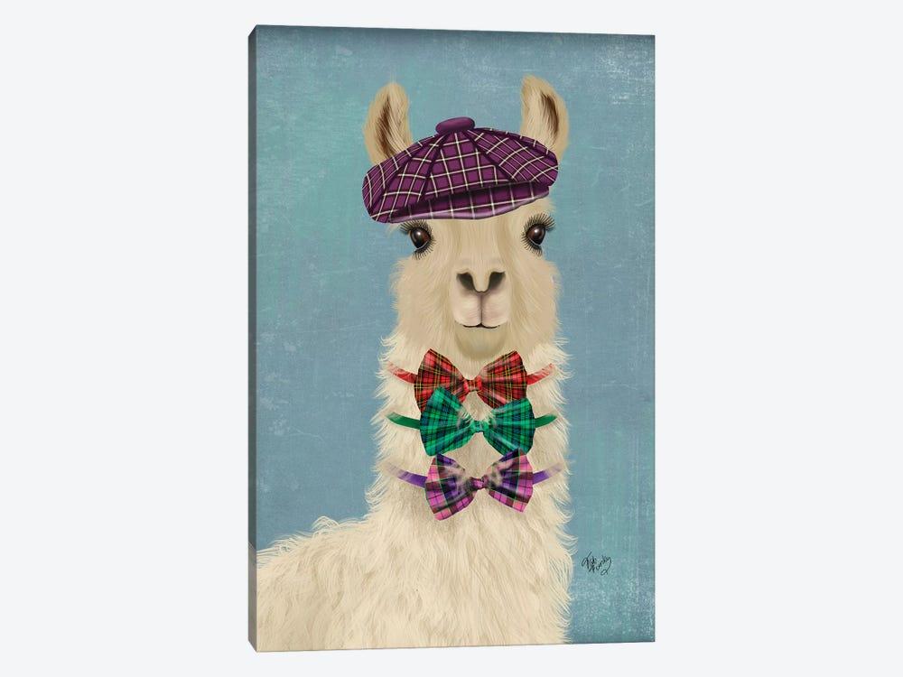 Llama Dapper by Fab Funky 1-piece Canvas Art Print