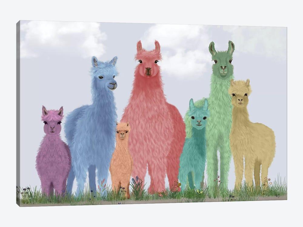 Llama Pastel Family by Fab Funky 1-piece Art Print