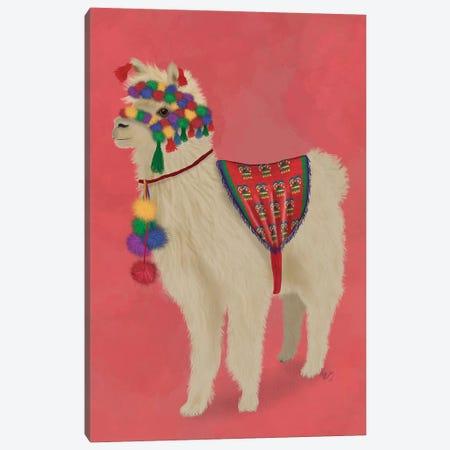 Llama Traditional 2, Full Canvas Print #FNK1832} by Fab Funky Canvas Wall Art