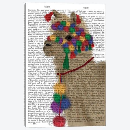 Llama Traditional 2, Portrait Book Print Canvas Print #FNK1834} by Fab Funky Canvas Print