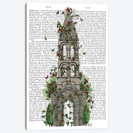 Butterfly Tower I Canvas Print #FNK185} by Fab Funky Canvas Wall Art