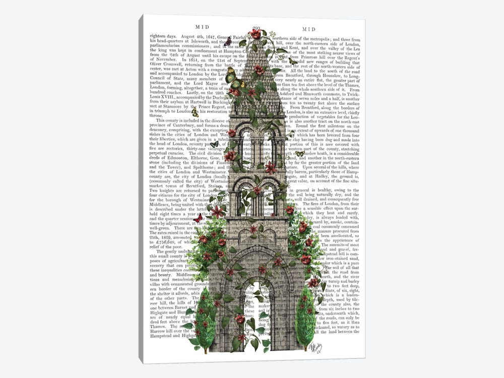 Butterfly Tower I by Fab Funky 1-piece Canvas Artwork