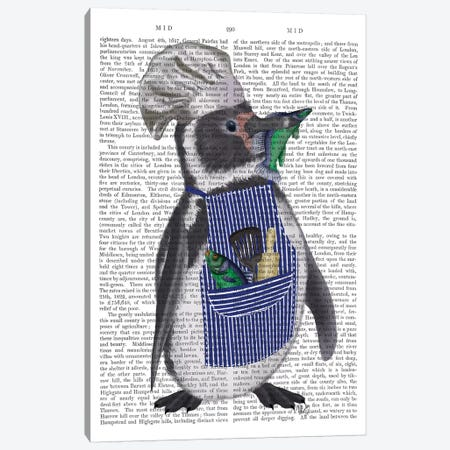 Penguin Chef Book Print Canvas Print #FNK1860} by Fab Funky Canvas Print