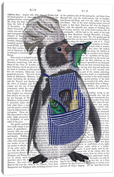 Penguin Chef Book Print Canvas Art Print