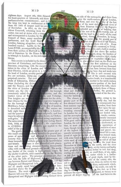 Penguin Fishing Book Print Canvas Art Print