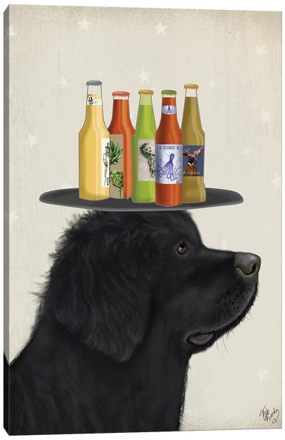 Newfoundland Beer Lover Canvas Art Print