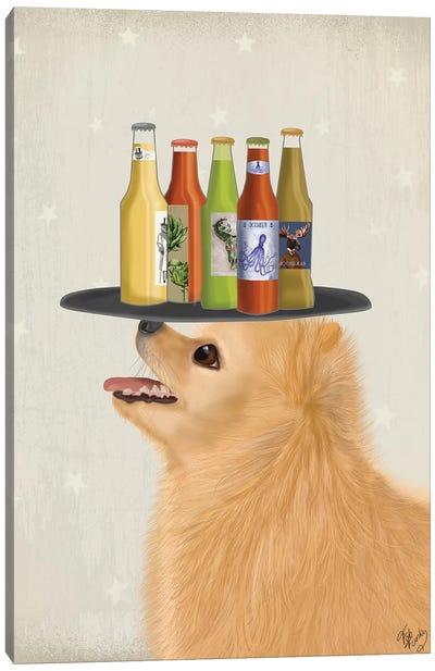 Pomeranian Beer Lover Canvas Art Print