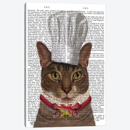 Cat Chef I Canvas Print #FNK187} by Fab Funky Canvas Art