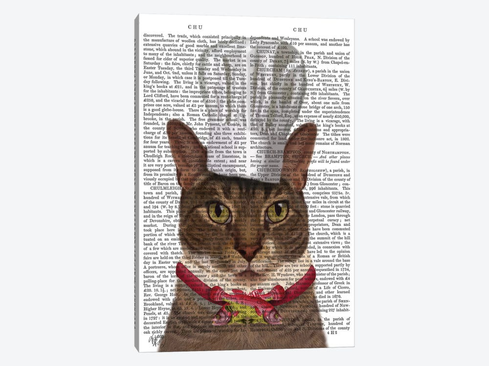 Cat Chef I by Fab Funky 1-piece Canvas Wall Art