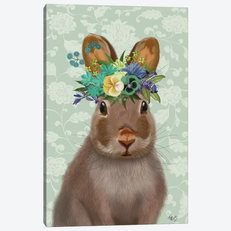 Rabbit Bohemian Canvas Print #FNK1882} by Fab Funky Canvas Art Print