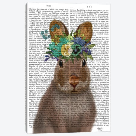 Rabbit Bohemian Book Print Canvas Print #FNK1883} by Fab Funky Canvas Print