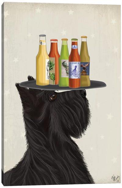 Scottish Terrier Beer Lover Canvas Art Print
