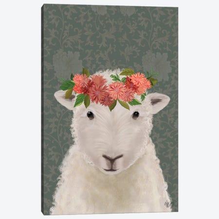 Sheep Bohemian 1 Canvas Print #FNK1893} by Fab Funky Canvas Wall Art
