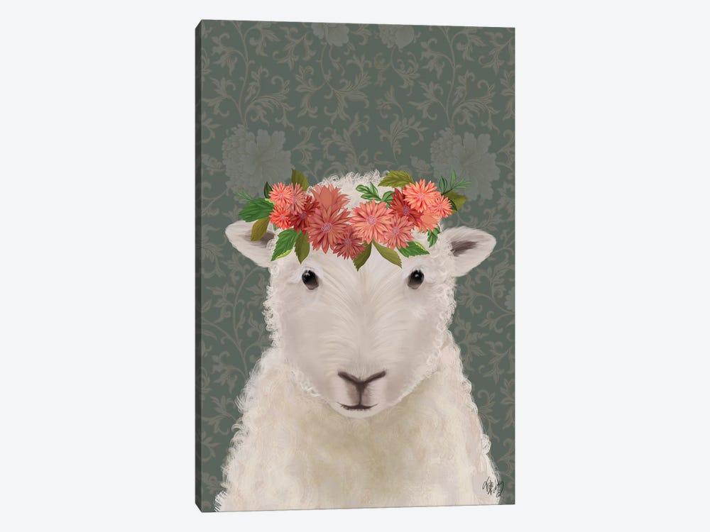 Sheep Bohemian 1 by Fab Funky 1-piece Canvas Wall Art