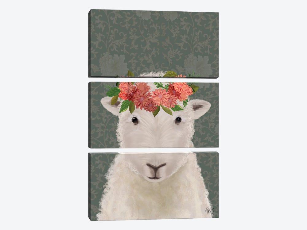 Sheep Bohemian 1 by Fab Funky 3-piece Canvas Artwork