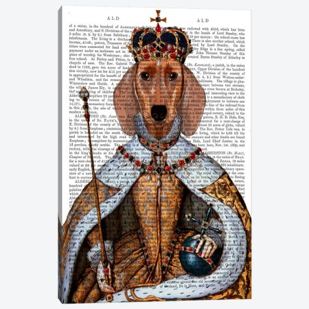 Dachshund Queen Canvas Print #FNK18} by Fab Funky Canvas Artwork