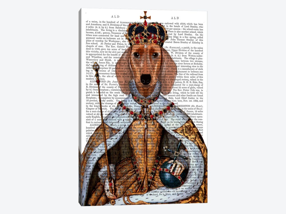 Dachshund Queen by Fab Funky 1-piece Canvas Print