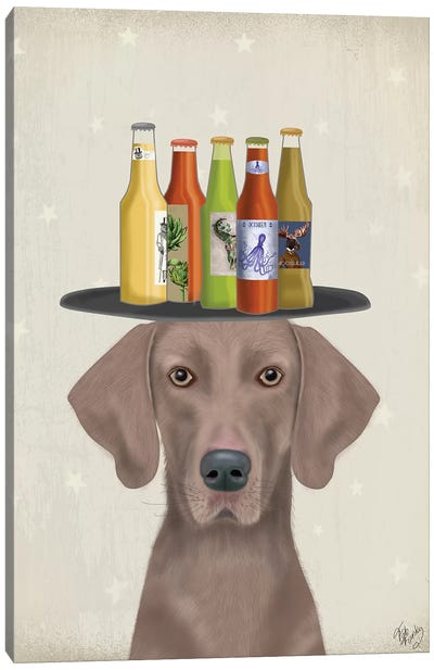 Weimerarner Beer Lover Canvas Art Print
