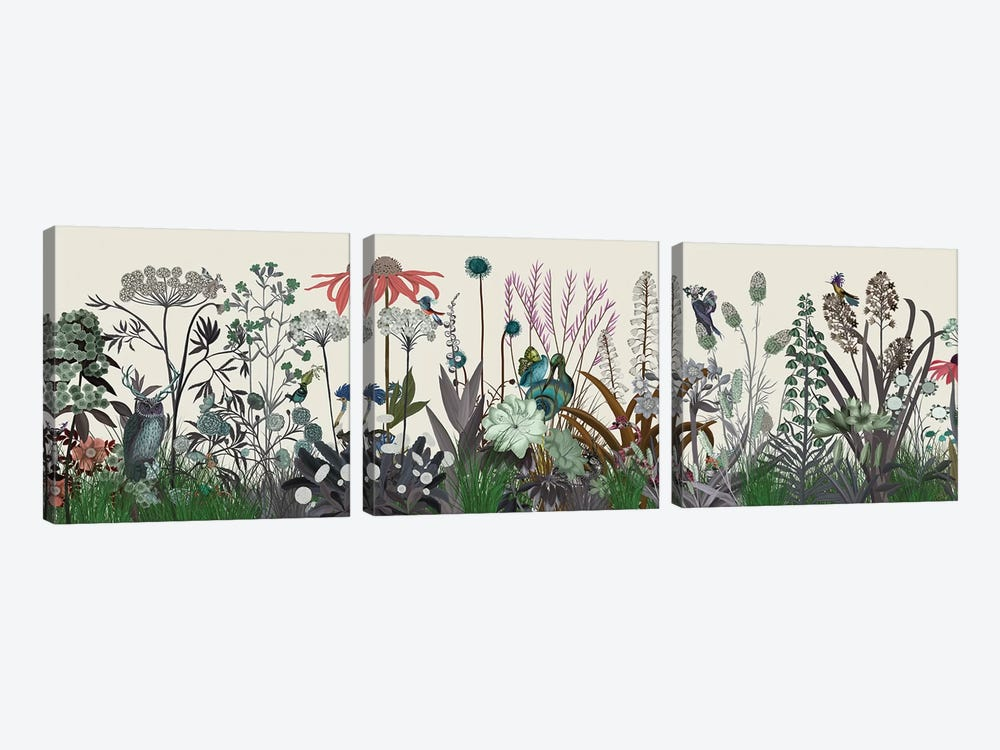 Wildflower Bloom by Fab Funky 3-piece Canvas Wall Art