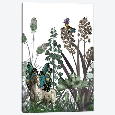 Wildflower Bloom, Horse Canvas Print #FNK1917} by Fab Funky Canvas Wall Art