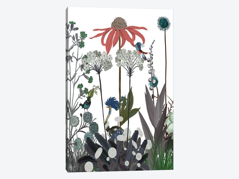 Wildflower Bloom, Ostrich by Fab Funky 1-piece Canvas Art Print
