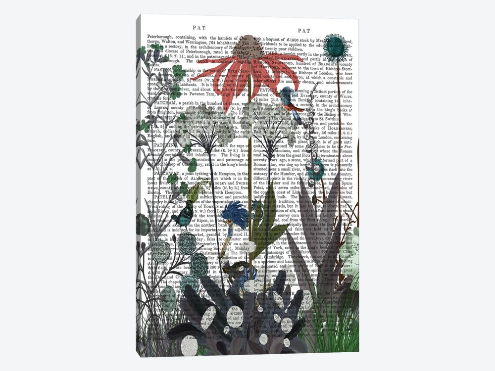 Wildflower Bloom, Ostrich Book Print by Fab Funky 1-piece Art Print