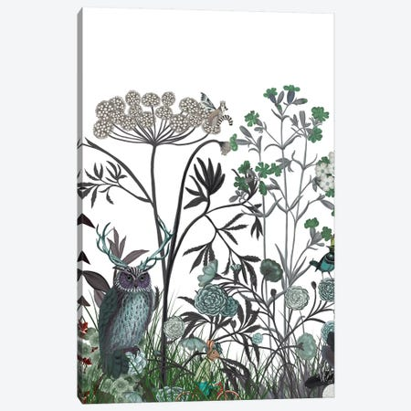 Wildflower Bloom, Owl 3-Piece Canvas #FNK1921} by Fab Funky Canvas Artwork