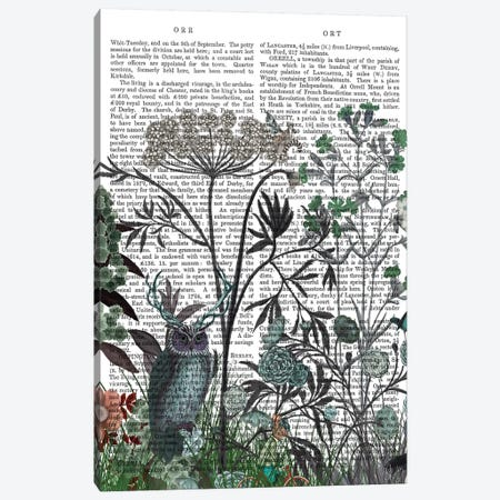 Wildflower Bloom, Owl Book Print 3-Piece Canvas #FNK1922} by Fab Funky Canvas Wall Art