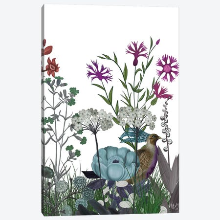 Wildflower Bloom, Partridge Canvas Print #FNK1923} by Fab Funky Canvas Art